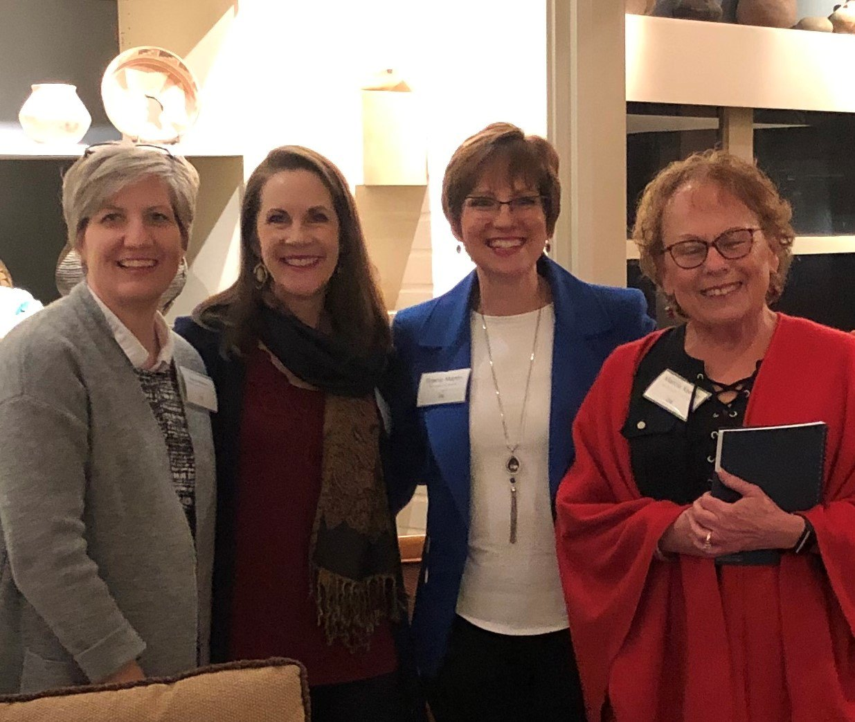 Members From left, Virginia Whitham, Lisa Wright, Gracie Martin, and Marcia Keener